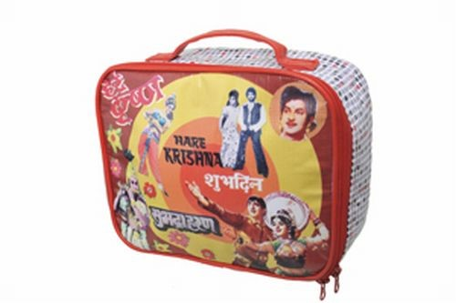 Coated Cotton Red Bolly Carry Case