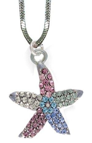 Starfish Necklace Multi Color
