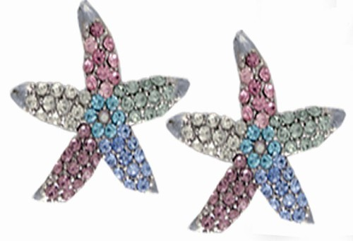 Starfish Earrings Multi Color
