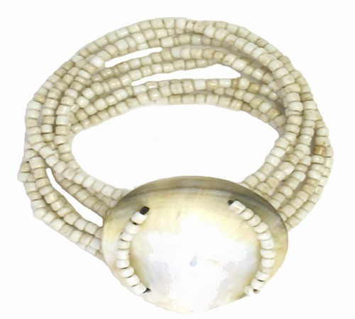 Shell Seed Bead Bracelet Natural