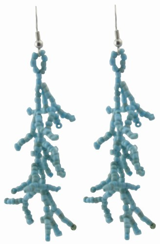 Coral Shape Seed Bead Earrings