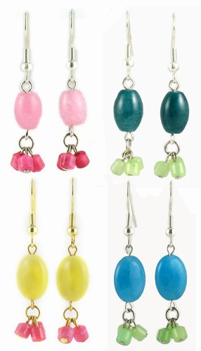Jade Dangle Earring Assortment