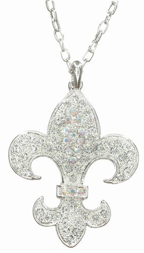 Fleur De Lis Long Necklace, Large