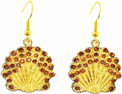 Gold Scallop Shell Earrings