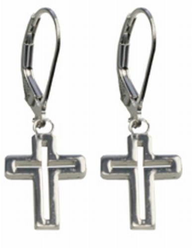From This Moment On Cross Earrings