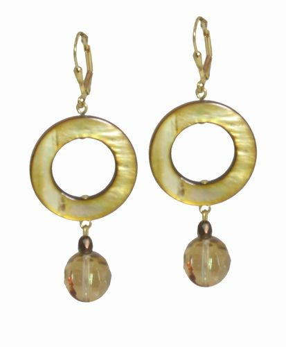 Mother of Pearl & Jasper Earrings