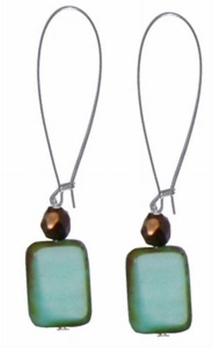Czech Glass Drop Earrings