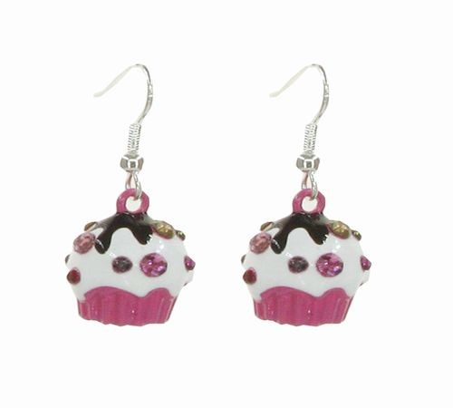 Cupcake Earrings Pink