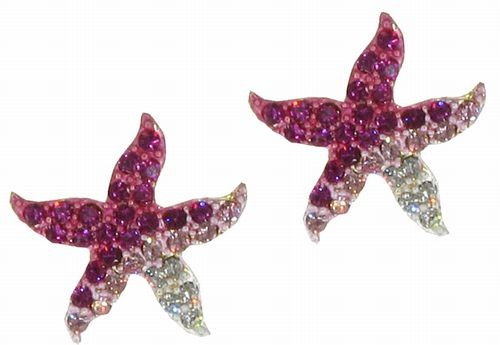 Pink Starfish Earrings