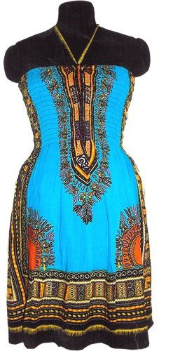 Tribal Dress, Turquoise