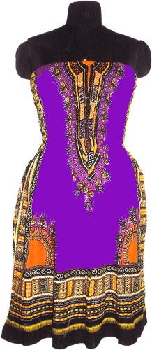 Tribal Dress, Purple