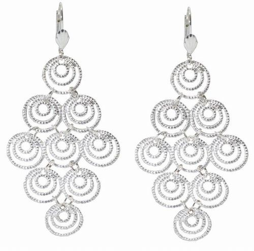Earrings, Chandelier, Silver