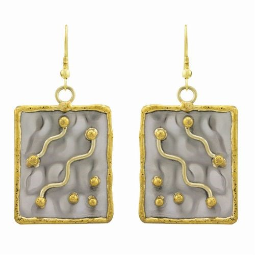 Earrings, Rectangular