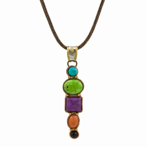 Semi-Precious, 5 Stone Necklace