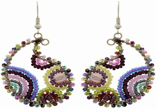 Earrings, Paisley 4