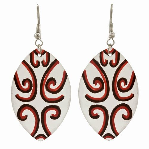 Handpainted Shell Earrings