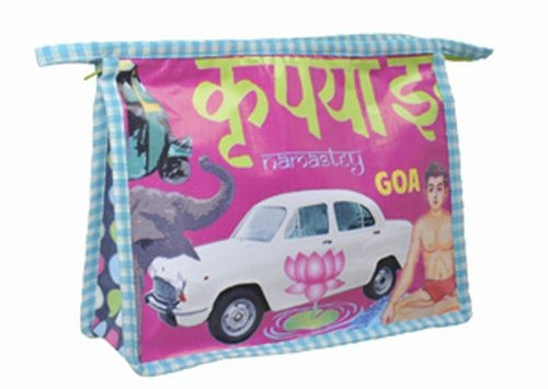 Coated Cotton Indian Kitsch Washbag