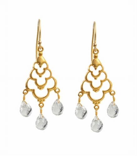 Crystal Drop Earrings, Clear