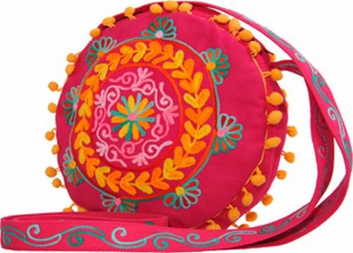 Embroidered Girly Bag, Pink
