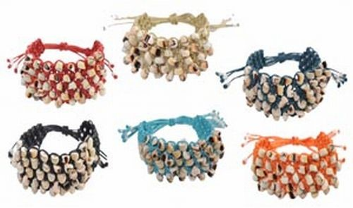 Macrame and Shell Bracelet Assortment