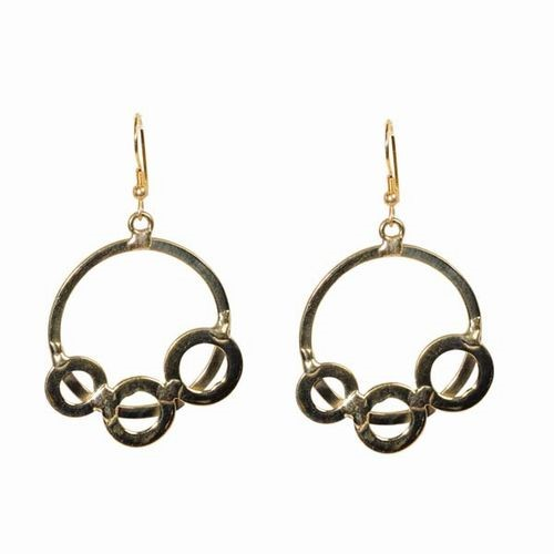 Orbit Brass Earrings