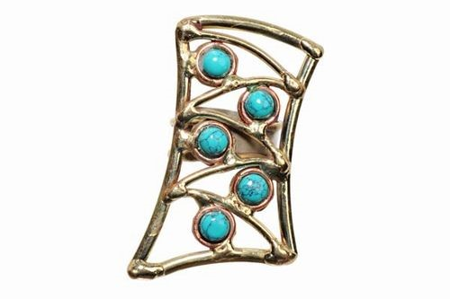 Turquoice Shield Adj Ring