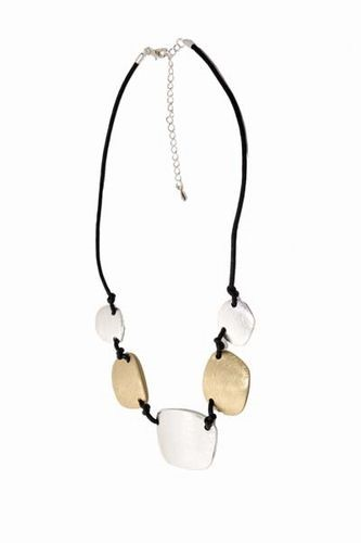 2 Tone Disc Necklace