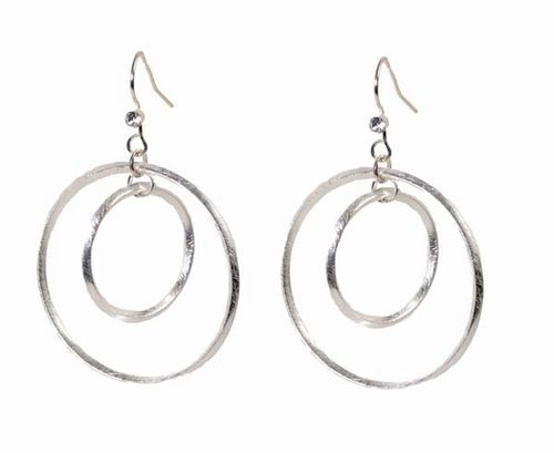 Double Hoop w/Crystals Earrings