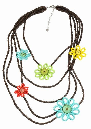 Bright Flowers Necklace