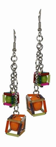 Bright Cubes Earrings