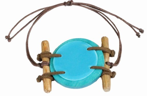 Natural Deep Blue Shell Bracelet