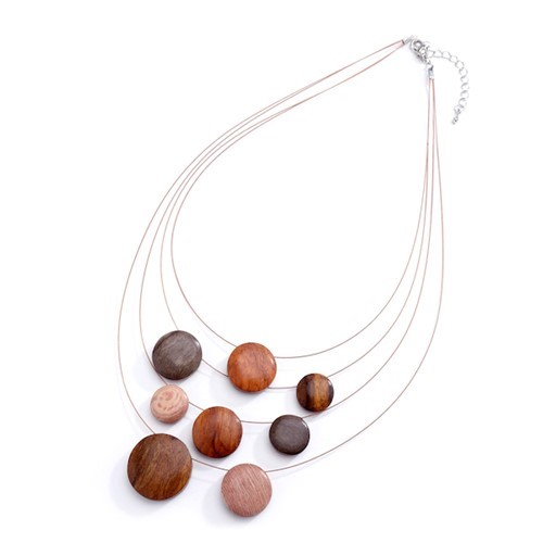 Cascading Reversible Discs Necklace