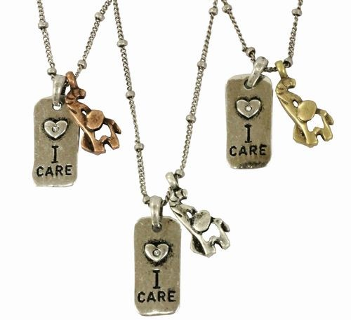 Necklace Elephant I Care About