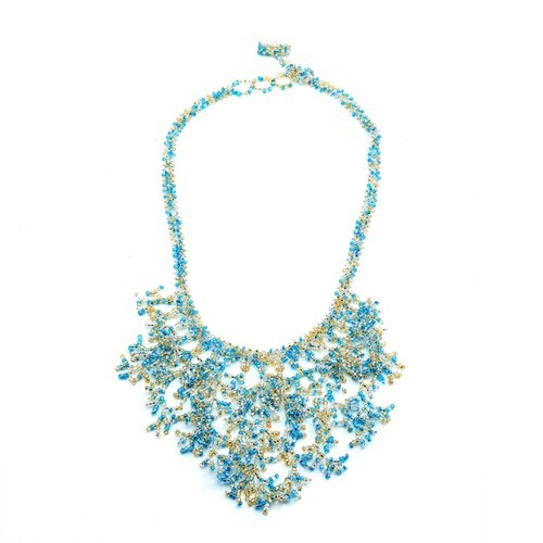 Beach Blue Coral Necklace