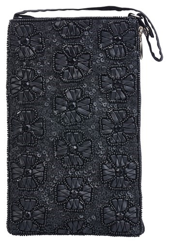 Club Bag Black Flowers