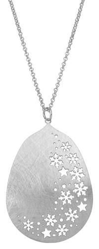 Snowflake Cutout Silver Necklace