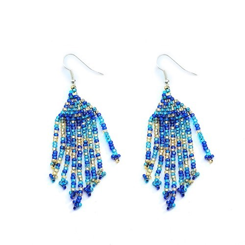 Cobalt Fringe Earrings