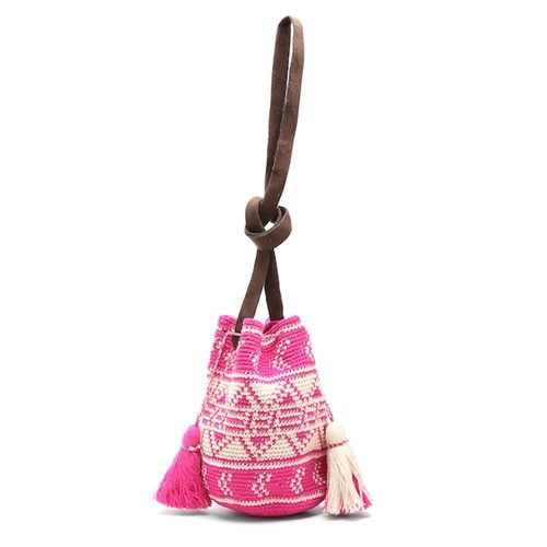 Bella Bucket Bag, Pink
