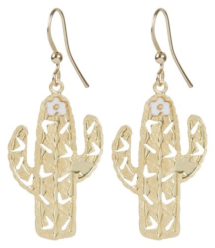 Cactus Earring Gold