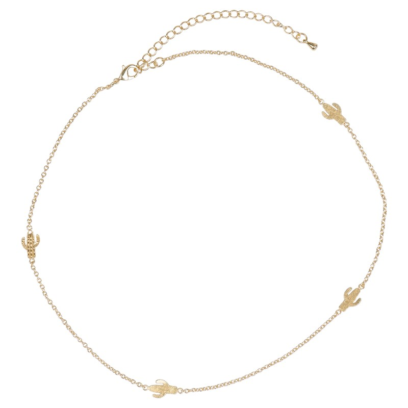 Cactus Mini Necklace Gold