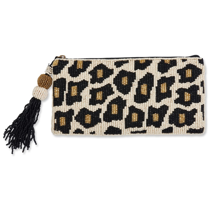 Club Bag Leopard Tassel Pouch