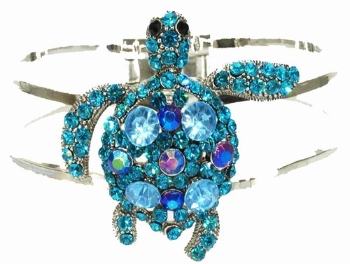 Blue Sea Turtle Cuff Bracelet