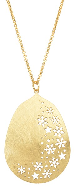 Snowflake Cutout Gold Necklace