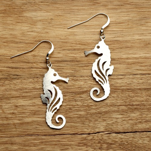 Seahorse Earrings Silver