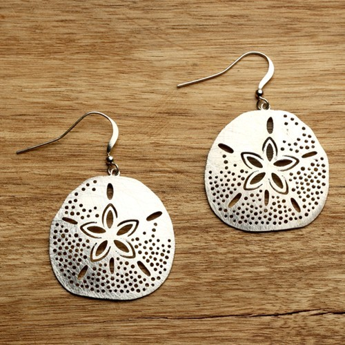 Sand Dollar Earrings Silver