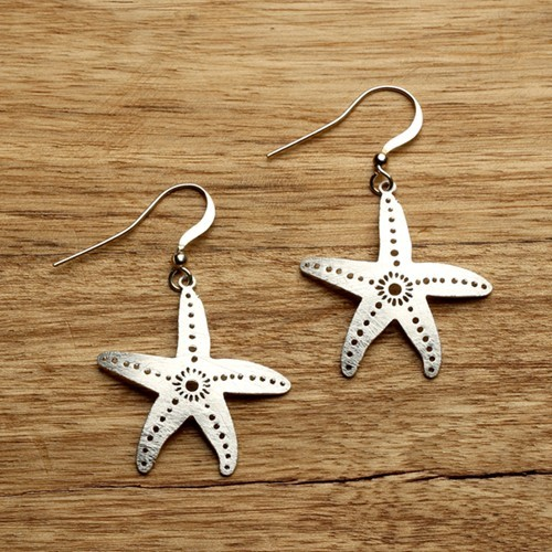Starfish Earrings Silver