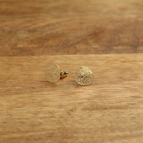 Sand Dollar Post Earrings Gold