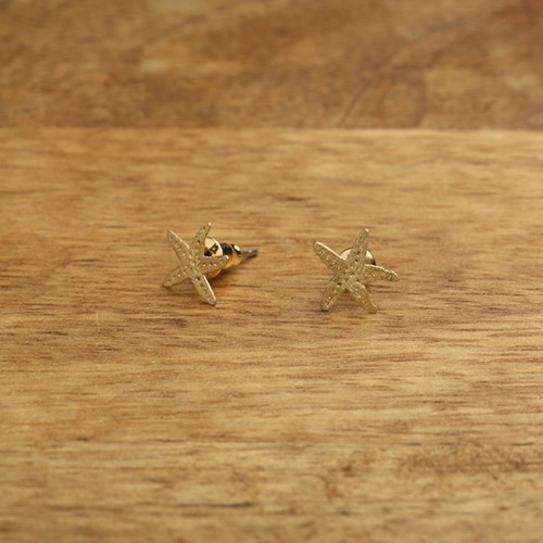 Starfish Post Earrings Gold