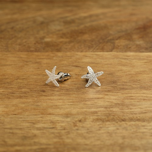 Starfish Post Earrings Silver