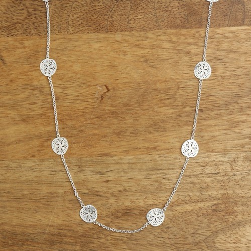 Sand Dollar Mini Necklace Silver